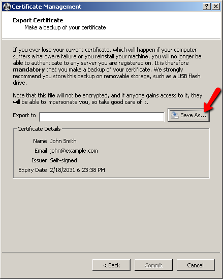 mumble creating a certificate