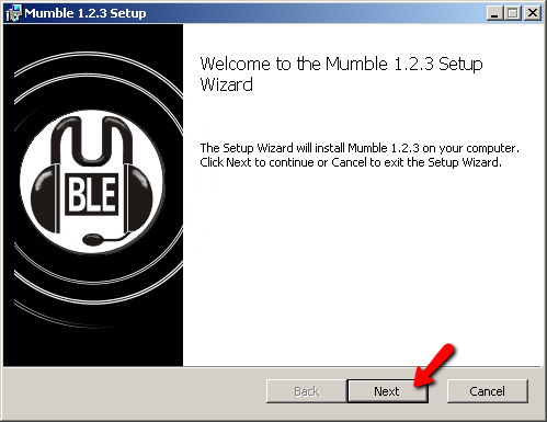 Mumble Install Screen 1