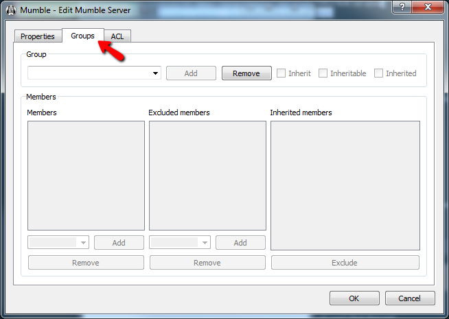 Mumble Adding User Admin Group Screen 2