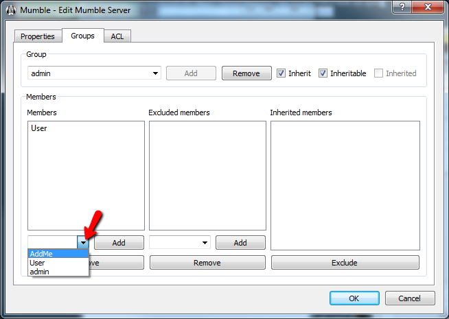 Mumble Adding User Admin Group Screen 4