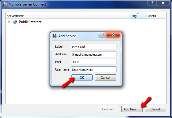 Mumble Connect To Server Screen 2